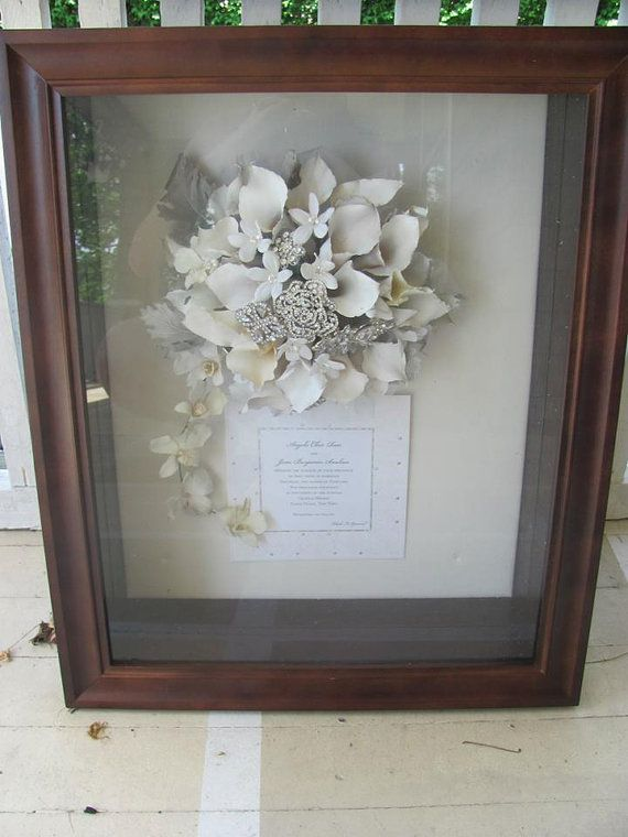 Floral Preservation For Wedding Bouquets In Shadow Box Local Ny