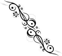 Vektor Tattoo Tribal Mit Blumen Bluten Feminin Floral Flora Tattoo Oberarm Frau Sterne Rosenzeichnungen Bild Tattoos