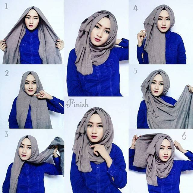 Classic Hijab Look With Volume -   11 hijab style for work