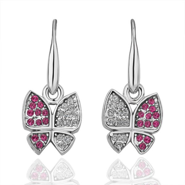 butterfly earring with crystal 36090