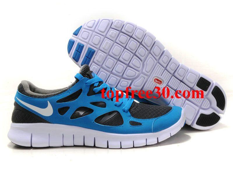 eaa63231c7c0 for nikes 50% OFF - Womens Nike Free Run 2 Blue Grey White Shoes ...