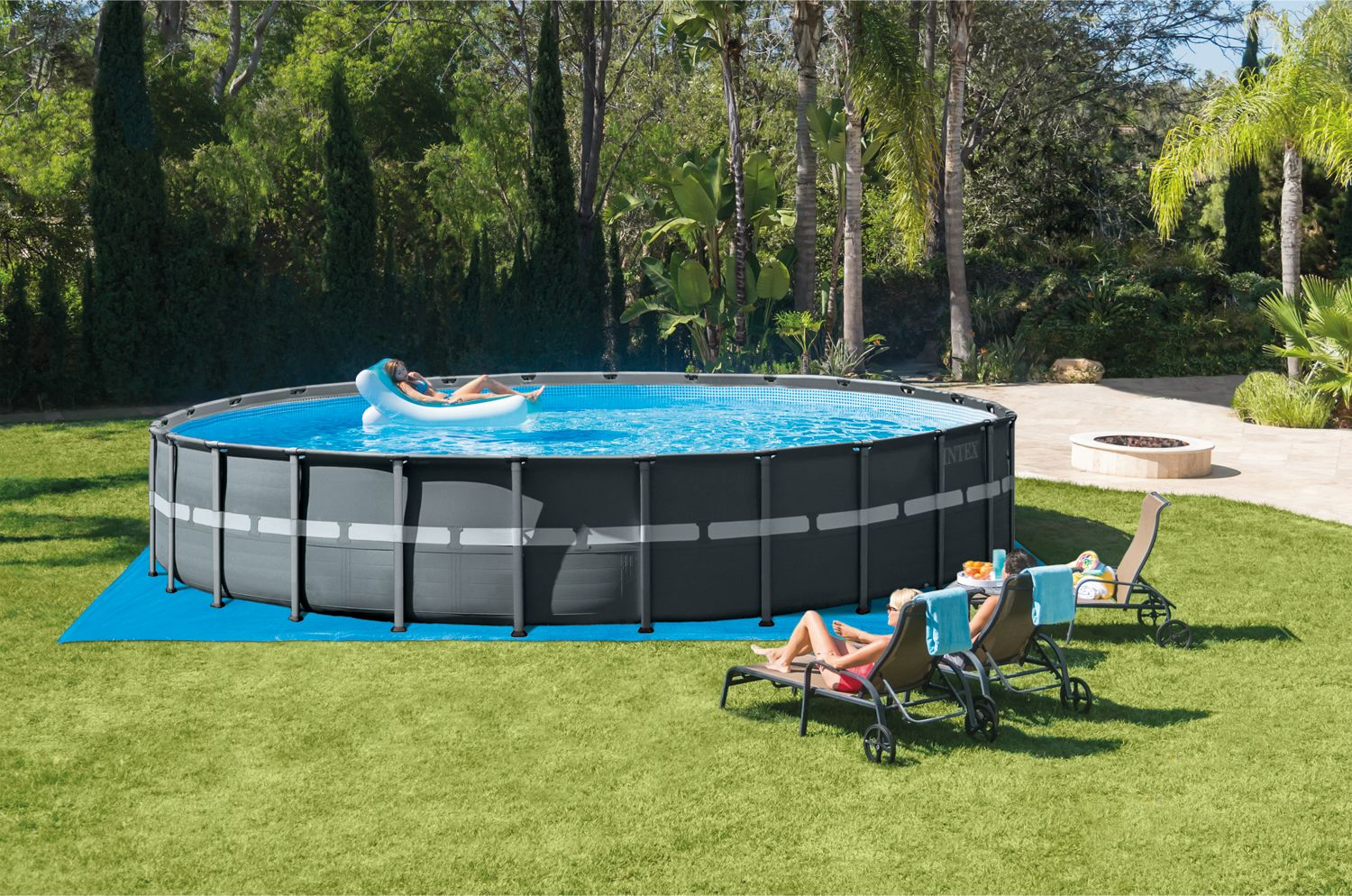 Intex 26ft X 52in Ultra Xtr Round Frame Pool Set With Sand Filter Pump Walmart Com Above Ground Pool Small Pool Design Best Above Ground Pool