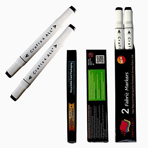Crafts 4 All Permanent Fabric Marker Laundry Marker Non Bleed Dual