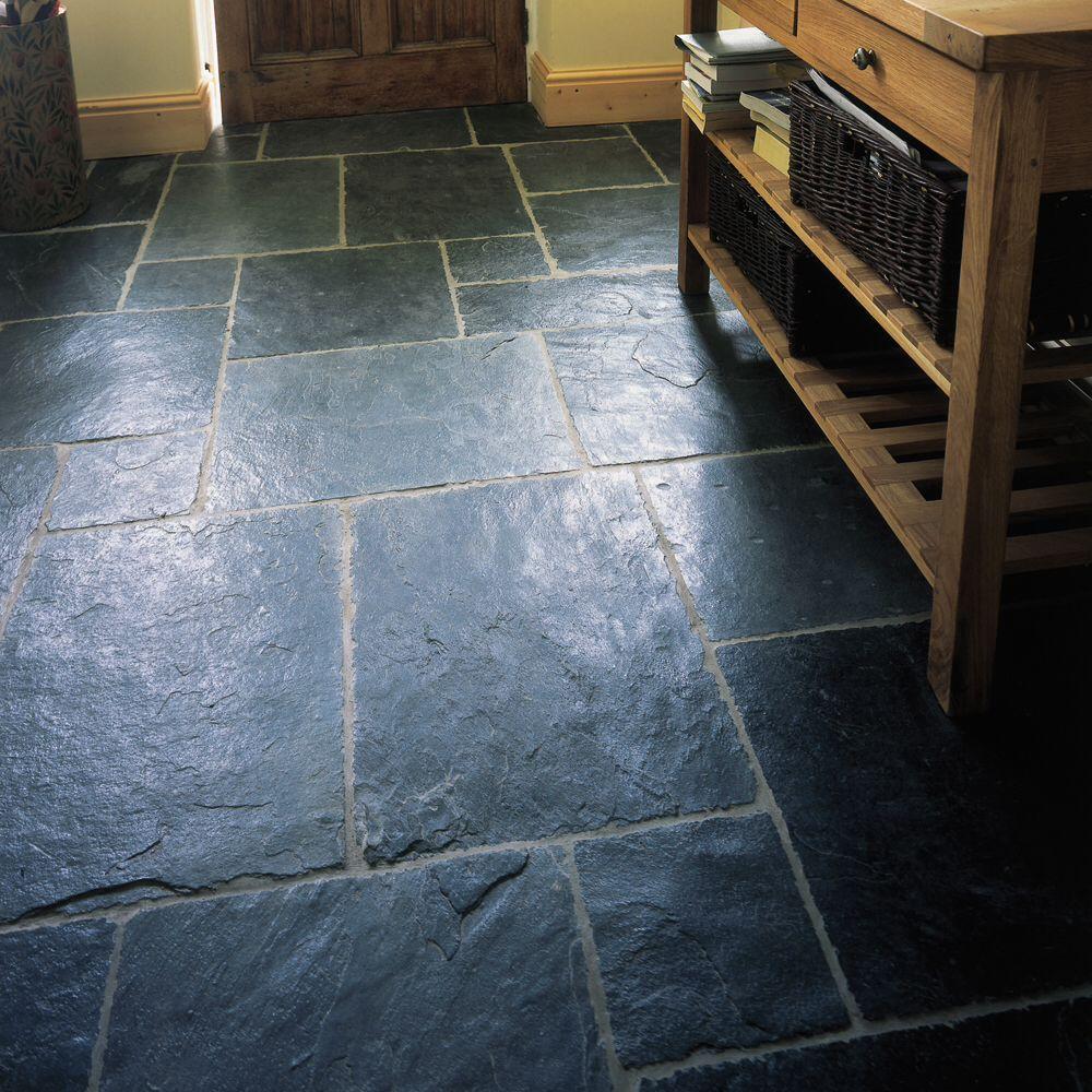 Trevail slate Slate tile floor, Flagstone flooring