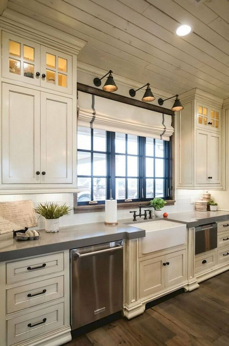 Farmhouse Kitchen Cabinet Ideas To Create A Warm And Welcoming - Warm kitchen cabinet colors