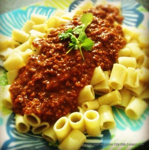 Macarrones Con Carne De Soya Healthy Recipes Food