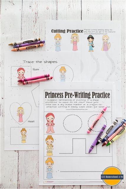 Princess Printables Preschool Worksheets, Educational Worksheets, Free  Preschool