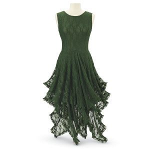Jade-Green Dress - Women's Romantic & Fantasy Inspired Fashions