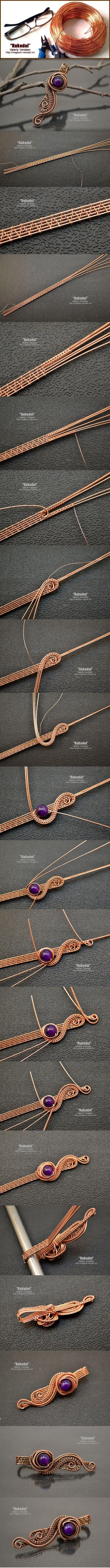 Wire Wrap Pendant - tutorial - http://magazin-rukodel.ru/ | ART ...