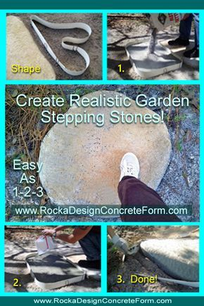 Photo of ROCKA DESIGN™ Custom Stone Maker. DIY Custom Stepping Stone Maker