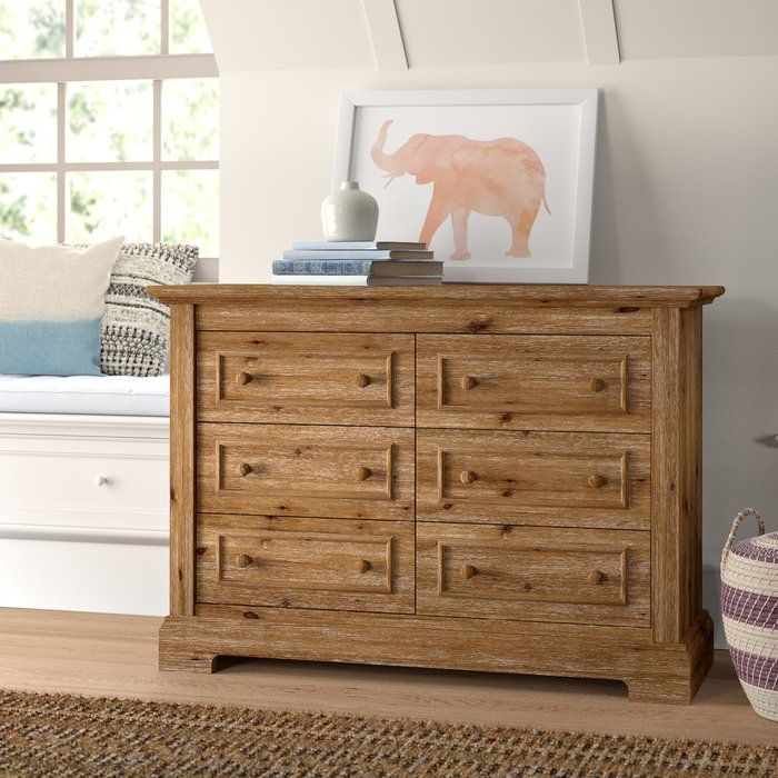 Topher 6 Drawer Double Dresser in 2020 | Double dresser, Nursery shelves, Convertible crib