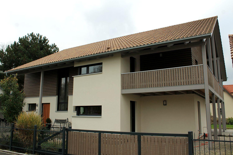 Außergewöhnlich Satteldach Modern Das Beste Von Holzfassade Fenster Eckfenster Balkon Aus Holz