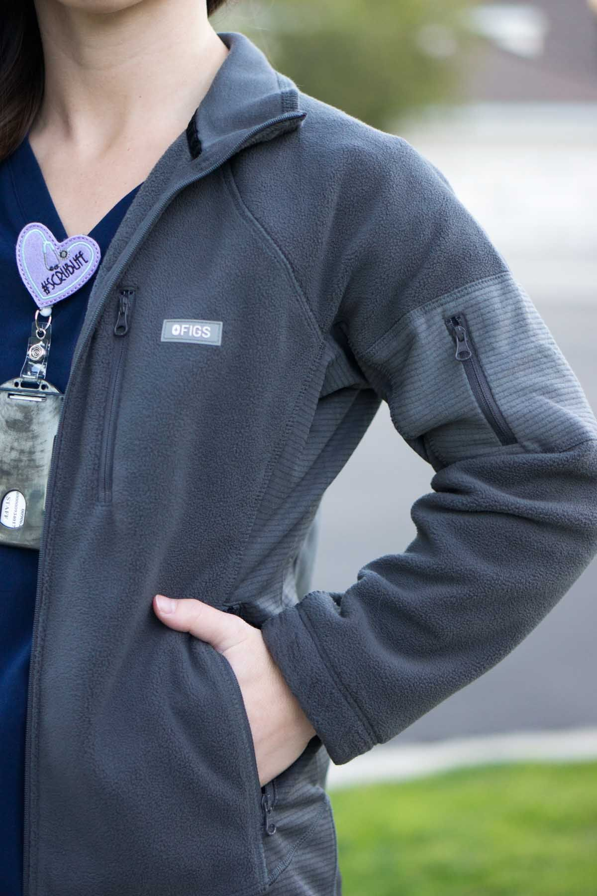 FIGS Fleece Jacket, Vest & Tee Review | Scrub life, Phlebotomy and ...