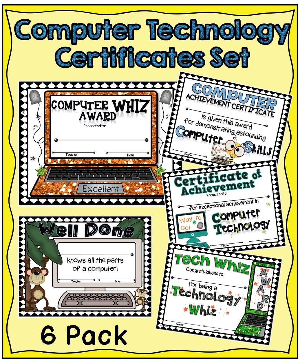Computer Technology Certificates Set