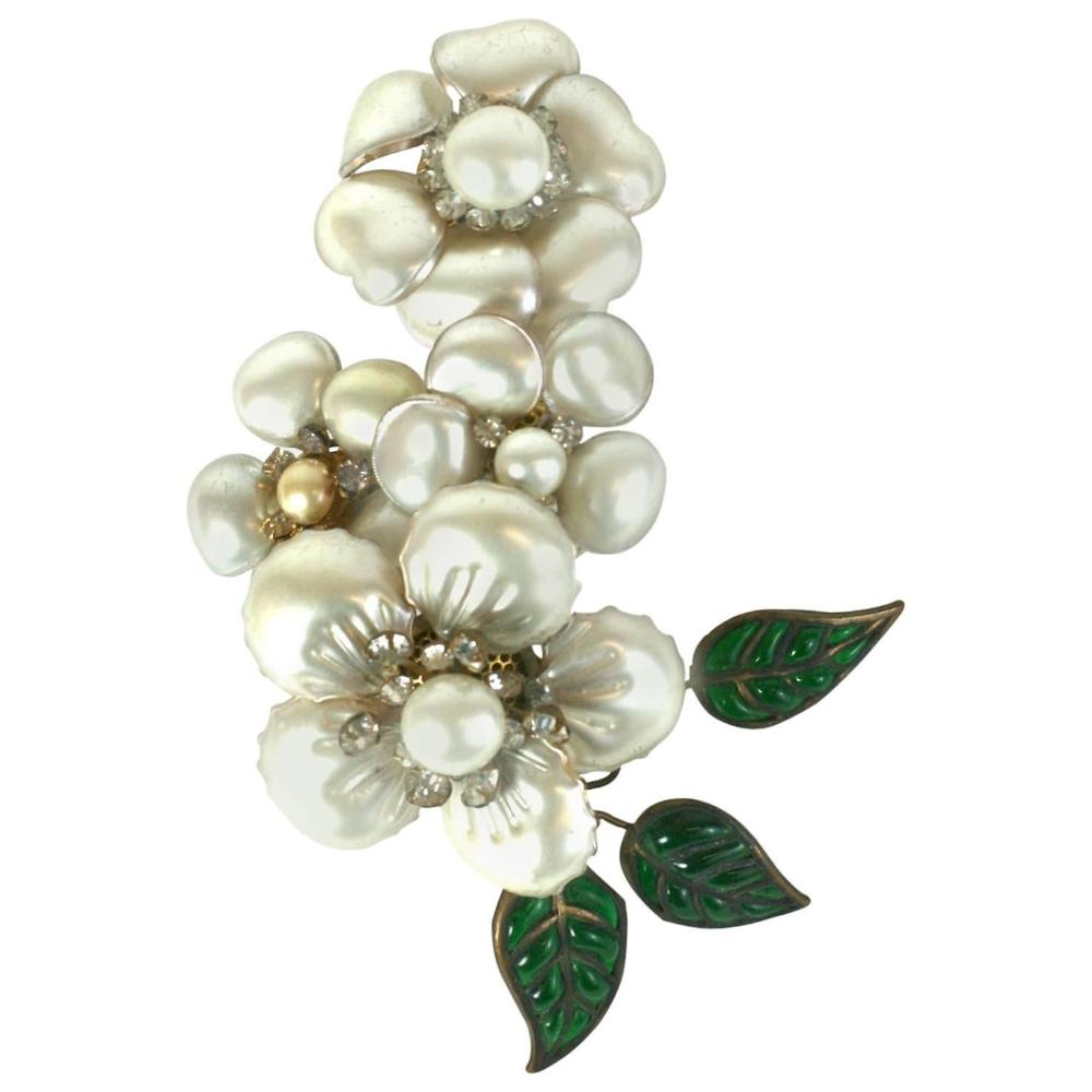 Magnificent Chanel Camellia Ear Cuff In 2020 Chanel Camellia Ear Cuff Earings Long Bridal Earrings