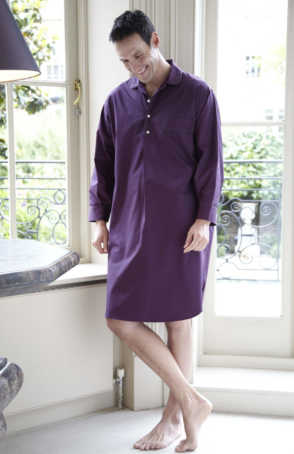 49688f84f0 Essential Men s Nightshirt Part of our Essentials range of classic  nightwear  Made from cool cotton poplin