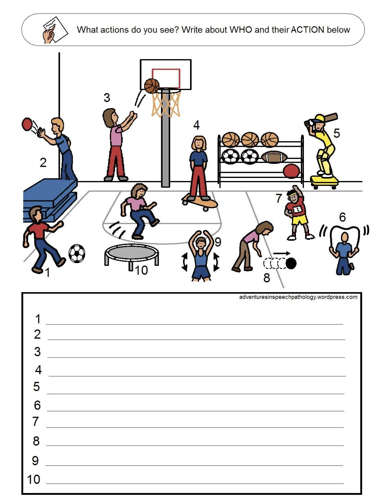 Subject and Verb Loaded Worksheets-Set 4 from Adventures in Speech  Pathology. Pinned by