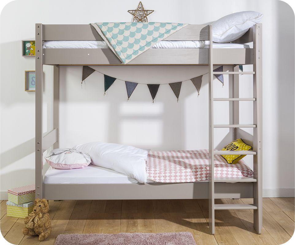 notre lit superpos clay en coloris lin f bunkbed. Black Bedroom Furniture Sets. Home Design Ideas