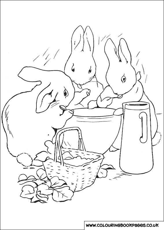 Peter Rabbit Colouring Page Coloring Pages Rabbit Colors