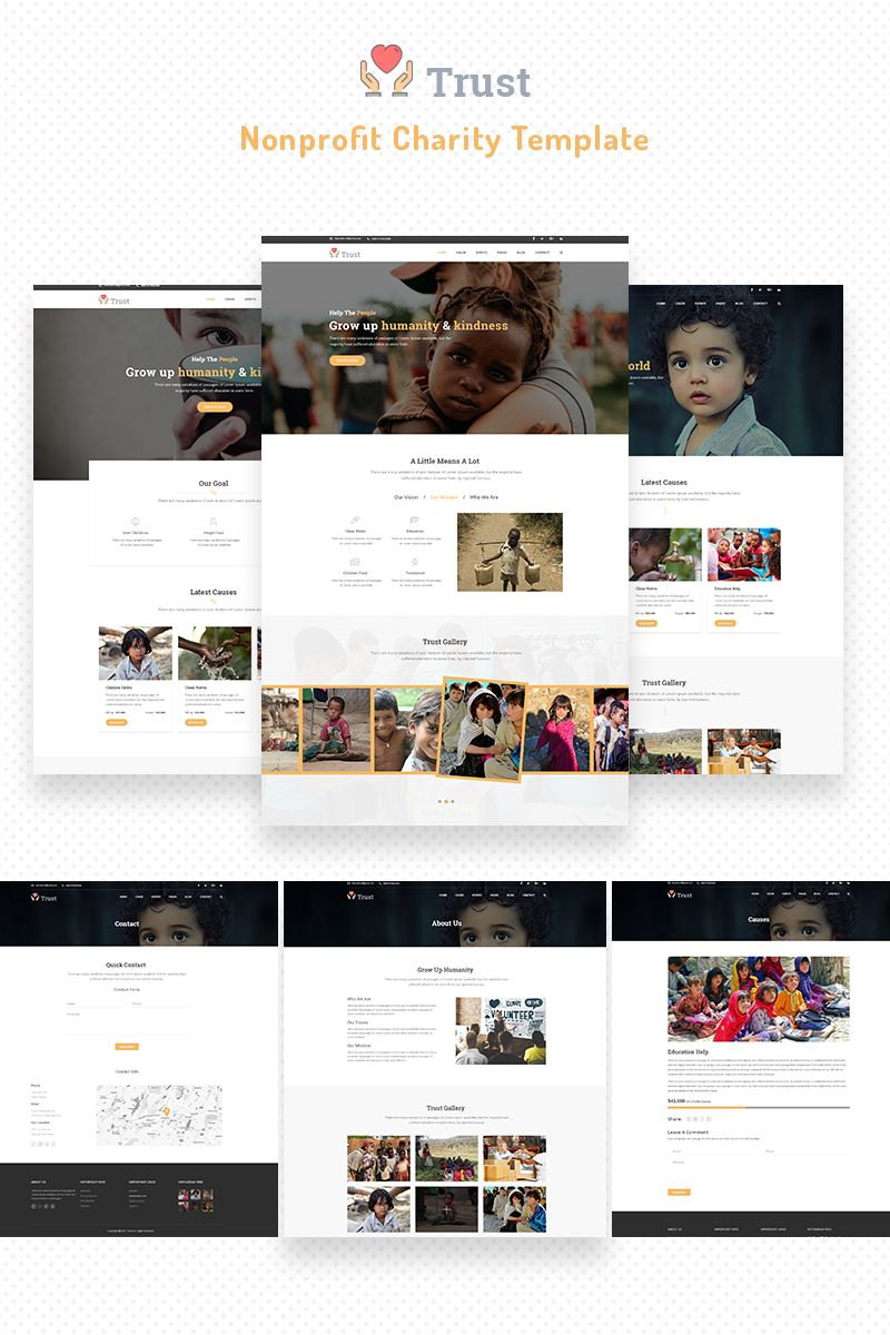 Charity Bootstrap Template Nonprofit Website Design Website Template Charity Websites