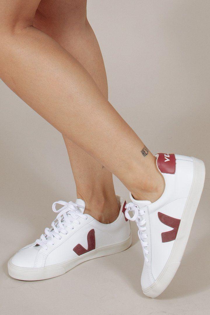 Esplar Sneaker in Marsala/White by Veja