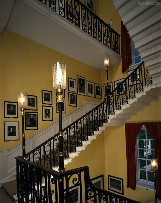 Main Staircase At 10 Downing Street Historical Interiors