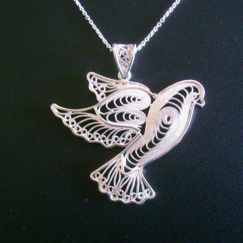 925 sterling silver artisan filigree dove pendant with chain ebay 925 sterling silver artisan filigree dove pendant with chain ebay aloadofball Images