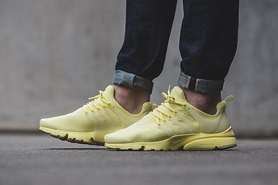 innovative design 183c7 a41e1 NIKE AIR PRESTO ULTRA BREATHE TRAINERS LEMON YELLOW CHIFFON UK 5.5-12 BNIB