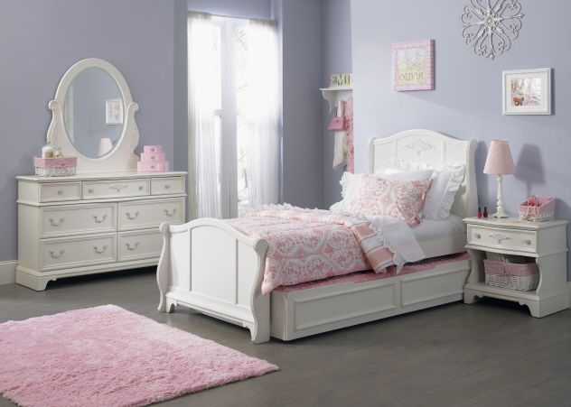 Snow White Twin Size Trundle Bedroom 5 Piece Set Twin Bed For