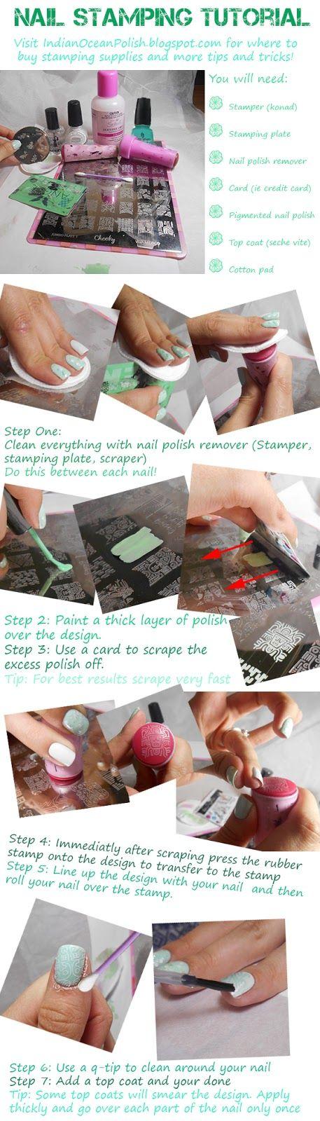 Black and White nails! Konad Nail Stamp Tutorial using nail plate ...