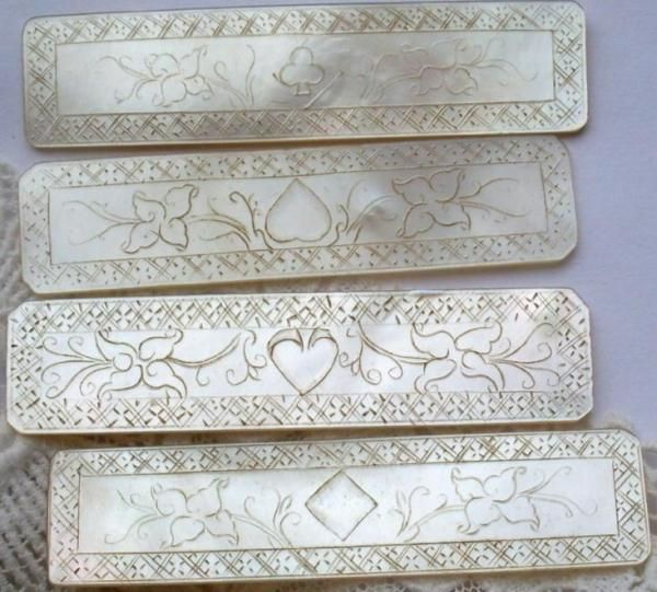ANTIQUE CHINESE MOTHER OF PEARL CARVED SILK WINDER GAMING COUNTER EARLY 1800/'S
