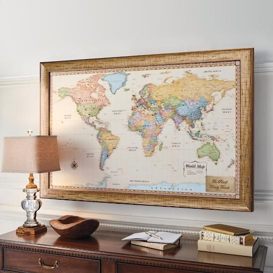 World magnetic travel map with antique white frame things to show world magnetic travel map with antique white frame gumiabroncs Image collections