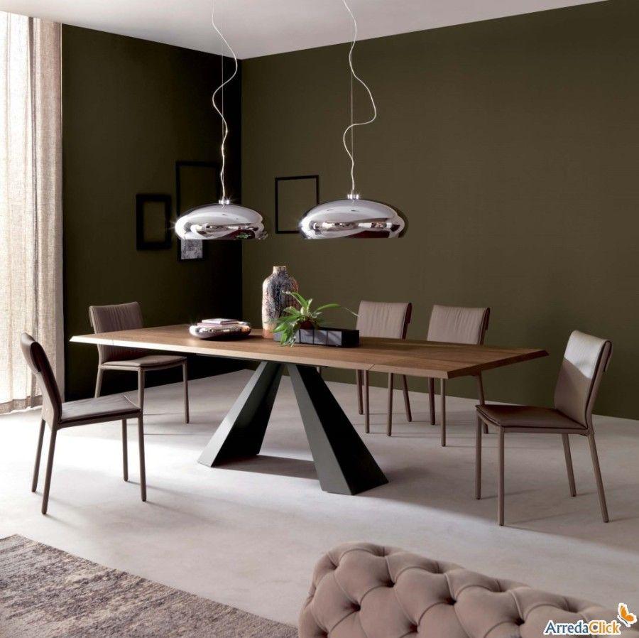 Tavolo Con Gamba Centrale Allungabile tavolo con piede centrale