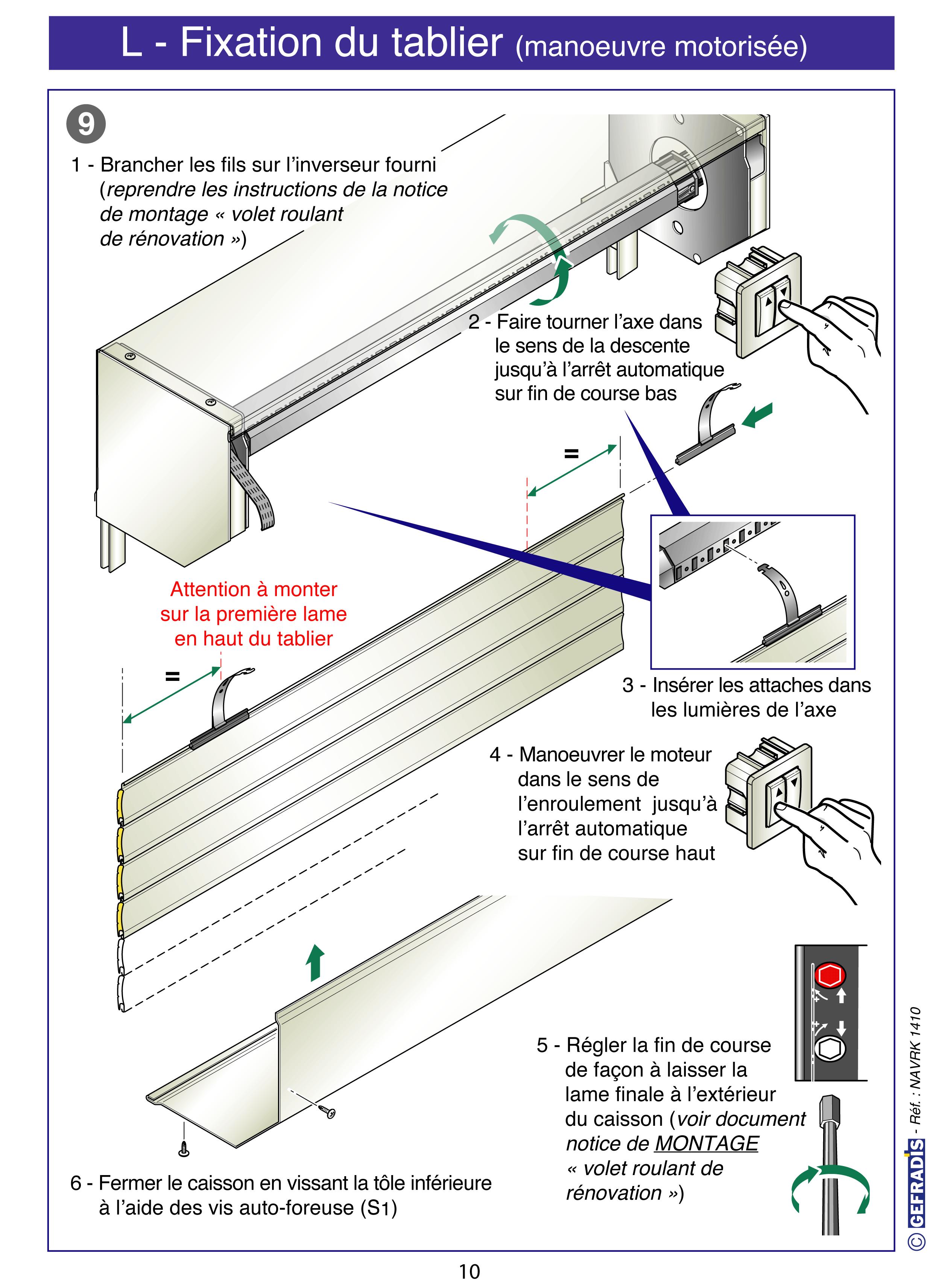 Page 10 Cette Notice Vous Explique Comment Poser Votre Volet Roulant En Kit Vous Meme Prix D Usine Sur Menuiserie Pvc Volet Roulant Volet Roulant Renovation
