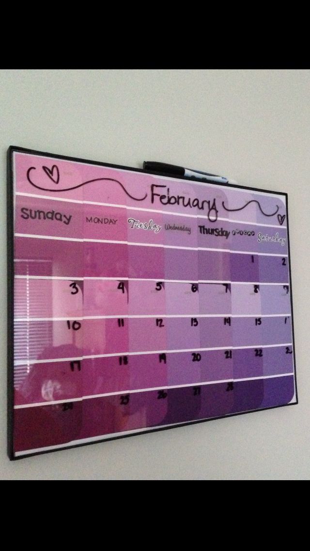 Paint Sample Dry Erase Calendar Guess Whats Going In My Dorm Room
