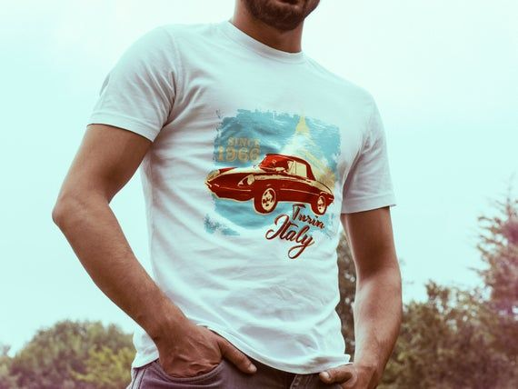 Alfa Romeo Spider Classic Car Tshirt for Fathers Day Gift – High Quality Print and Tee – MUF-12241
