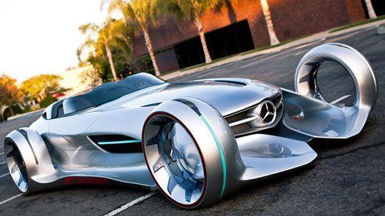 Mercedes Benz Silver Lightning Concept Car Bike Pinterest