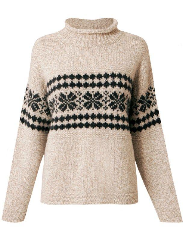 Lambswool Snowflake Knit