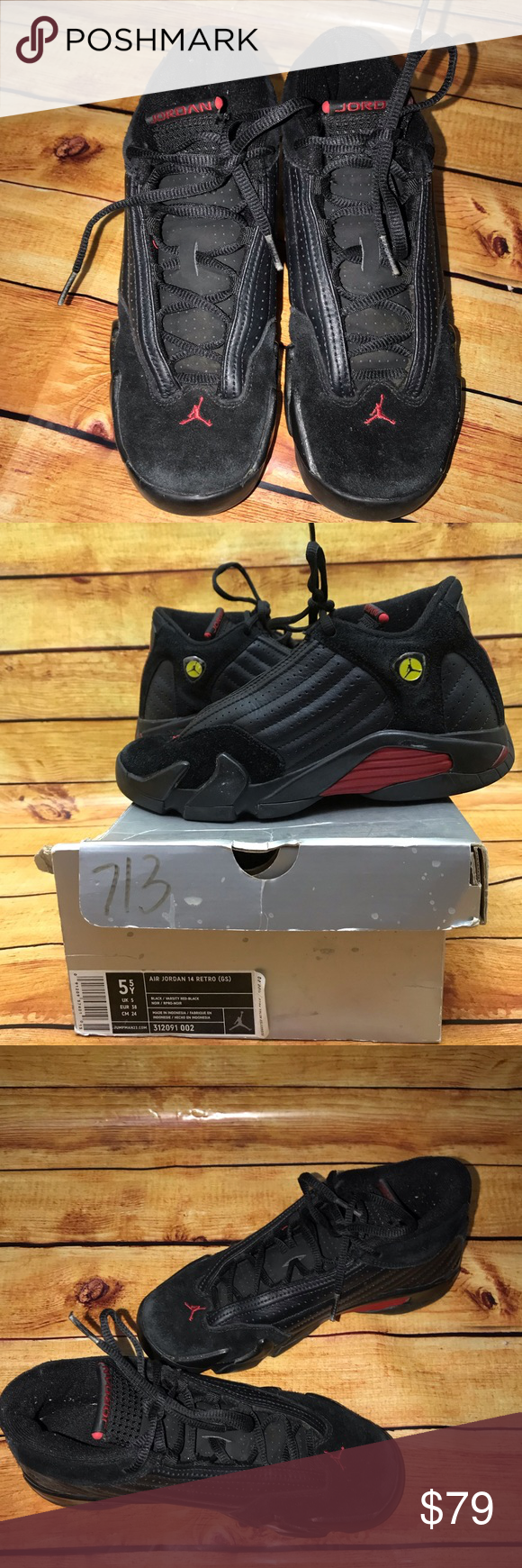 Air Jordan Retro 14 Pre Owned, gently used, comes with the