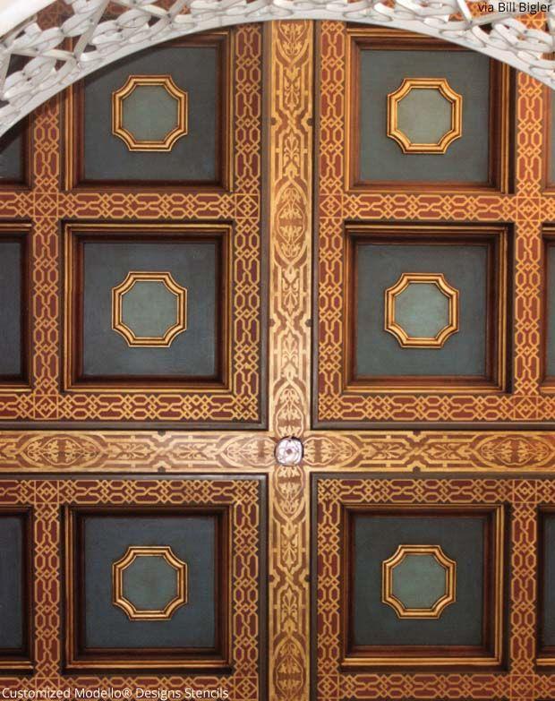 Custom Ceiling Stencils - Modello stenciled ceiling by ...