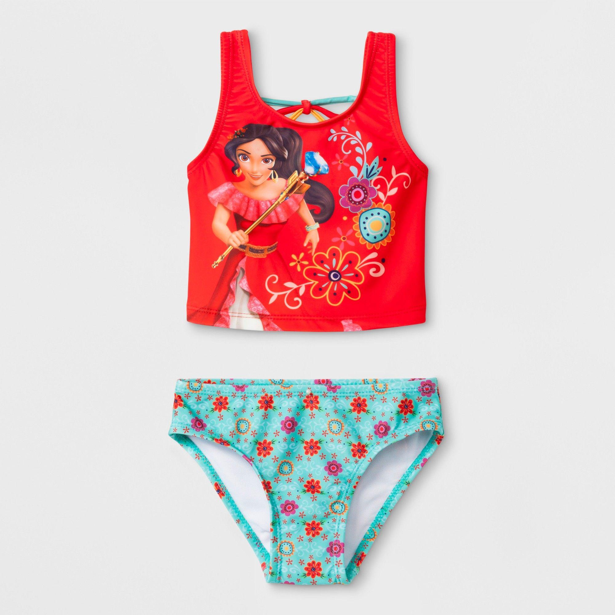 ec1ad777c7 Toddler Girls' Disney Elena of Avalor Tankini Set - Red 3T ...