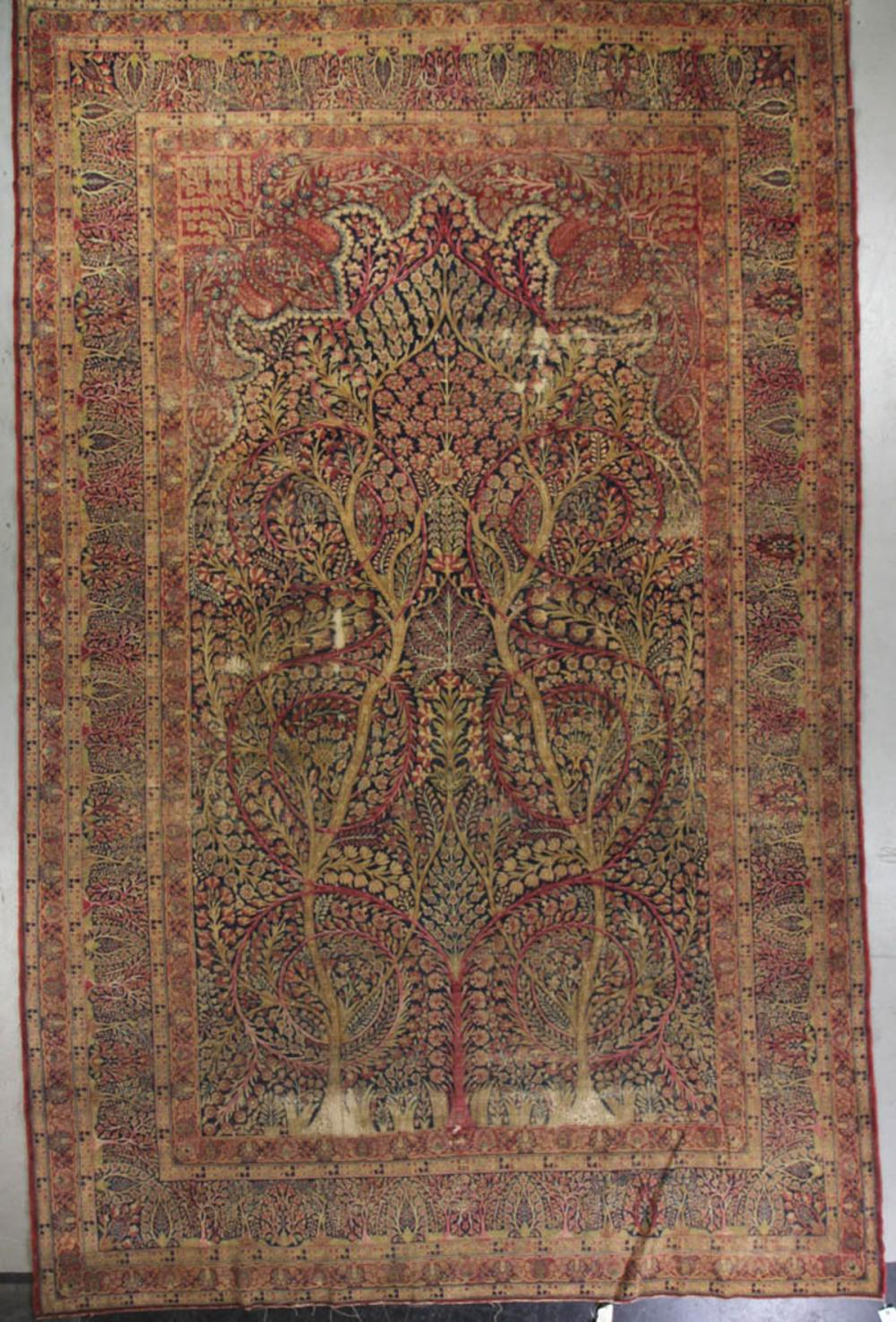 Sold Price Antique Lavar Kerman Rug Invalid Date Edt Kerman Rugs Antiques Rugs