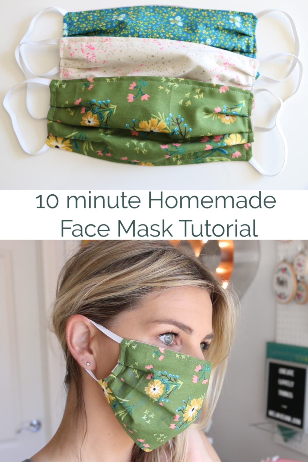 Homemade Face Mask with Elastic – 10 minutes – Nähen ✂