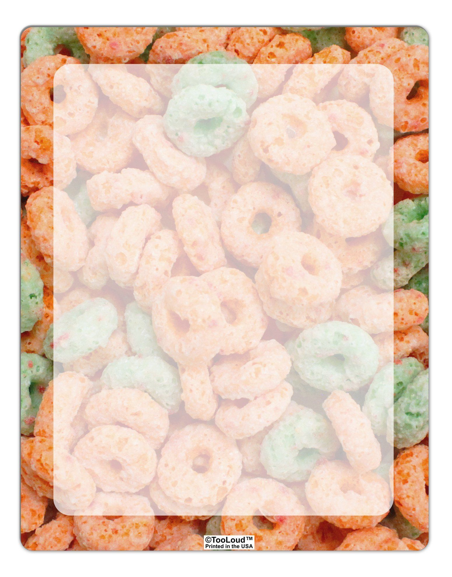 Orange and Green Cereal All Over Aluminum Dry Erase Board All Over Print