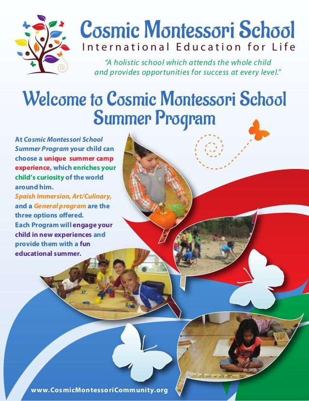 A holistic school which attends the whole child and provides - school brochure template