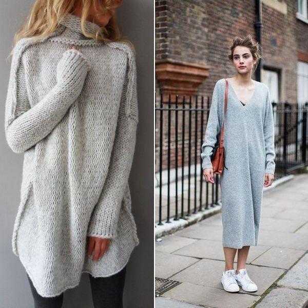 модные вязаные вещи 2017 самые стильные образы с вязаными спицами