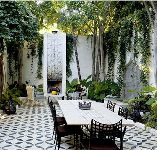 Resource For Graphic Encaustic Tiles Outdoor Dining Spaces