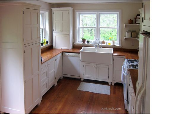 Amish Loft Freestanding Kitchen Cabinets made in Lancaster ...