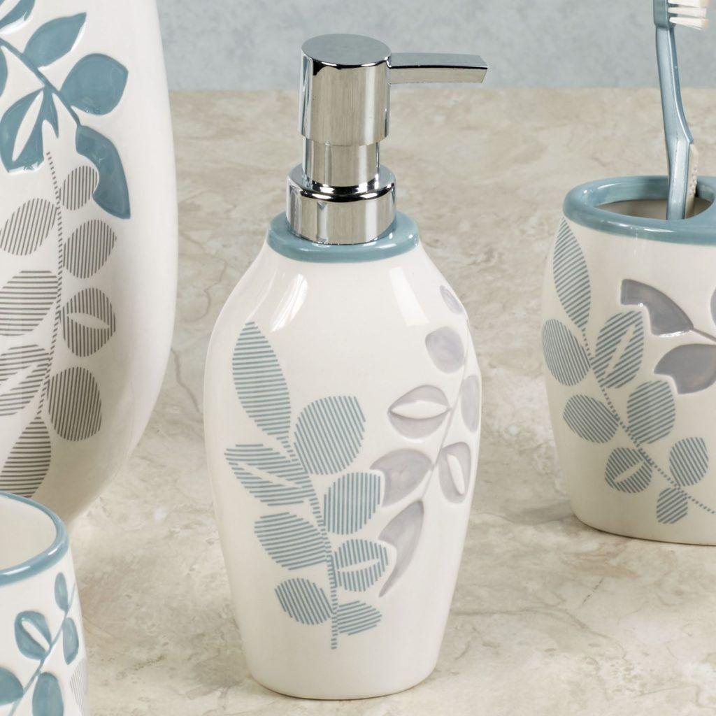 Green Leaf Bathroom Accessories | Bathroom Accessories | Pinterest ...