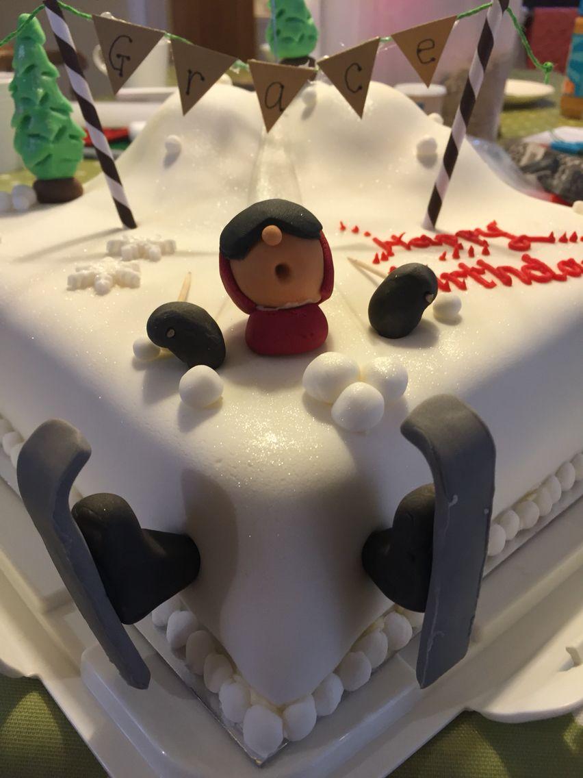 Ski Slope Birthday Cake J Cake Pinterest Birthday Cakes Cake